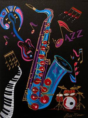 Harmony In Jazz Art Print