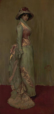Whistler Painting - Harmony In Pink And Gray - Lady Meux by James Abbott McNeill Whistler