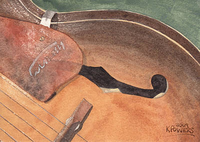 Acoustic Guitar Painting - Harmony by Ken Powers