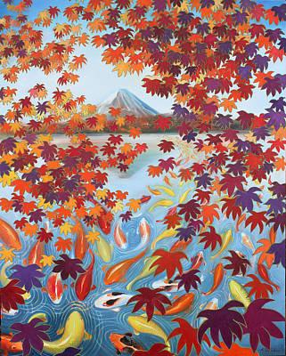 Painting - Harmony No.2 Autumn by Sumiyo Toribe
