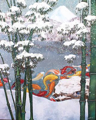 Painting - Harmony No.4 Winter by Sumiyo Toribe