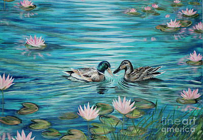 Painting - Harmony, Peace, Love And Happiness. Feng Shui Art Collection 2015 by Oksana Semenchenko