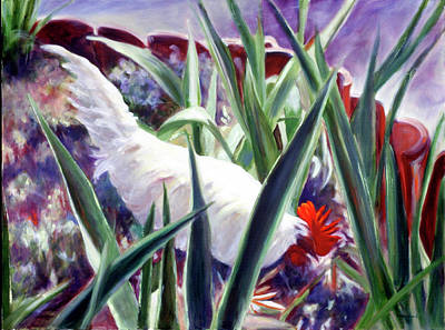 Painting - Harmony Rooster by Shannon Grissom