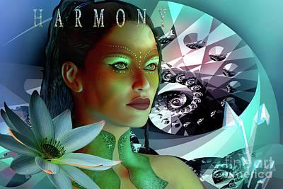 Digital Art - Harmony by Shadowlea Is