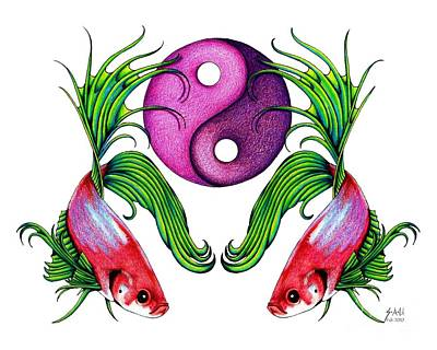 Harmony Together Art Print by Sheryl Unwin