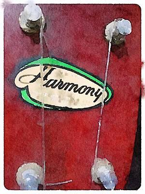 Digital Art - Harmony Uke by Shannon Grissom