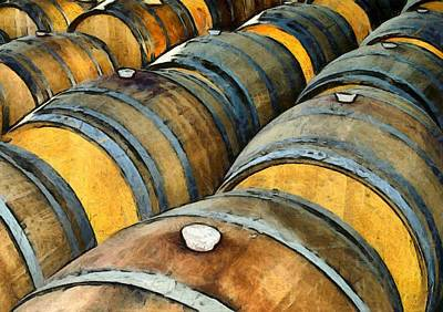 Photograph - Harmony Wine Cellars Oak Barrels by Floyd Snyder