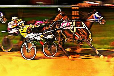 Harness Race #2 Art Print