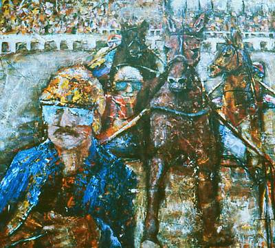 Acryllic Painting - Harness Race by Valera Ainsworth