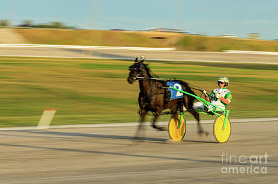 Photograph - Harness Racing - Slow Shutter Panned Image by Les Palenik