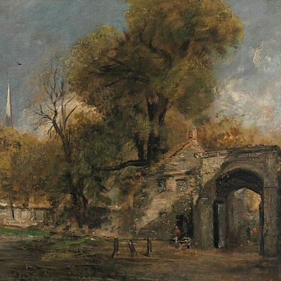Painting - Harnham Gate Salisbury by John Constable