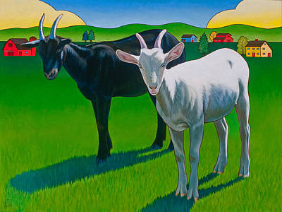 Goat Wall Art - Painting - Harold And Maude by Stacey Neumiller