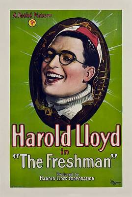 University Drawings Drawing - Harold Lloyd In The Freshman 1925 by Mountain Dreams