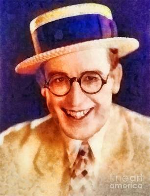 Harold Painting - Harold Lloyd, Vintage Hollywood Legend by Frank Falcon