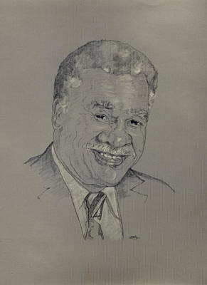 Drawing - Harold Washington  by Michelle Gilmore