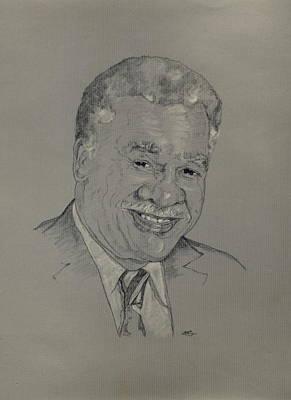 Drawing - Harold Washington  by Michelle Gilmore