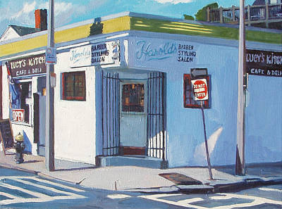 South Boston Painting - Harold's by Deb Putnam