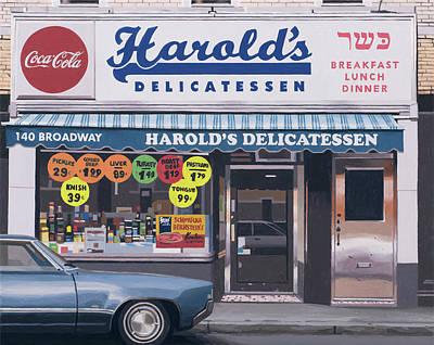 Painting - Harolds Delicatessen by Scott Listfield