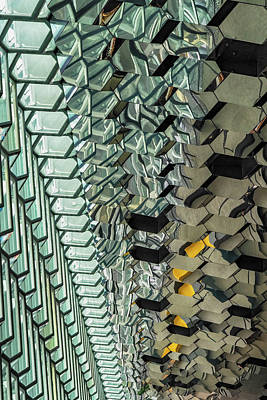 Photograph - Harpa Abstract by Tom Singleton