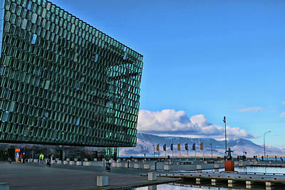 Photograph - Harpa Concert Hall # 1 by Allen Beatty