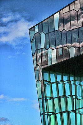 Photograph - Harpa Concert Hall # 2 by Allen Beatty