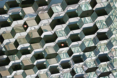 Photograph - Harpa Concert Hall # 5 by Allen Beatty