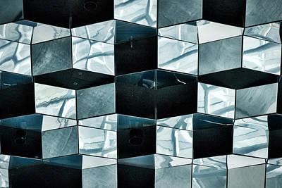 Photograph - Harpa Concert Hall Ceiling #2 - Iceland by Stuart Litoff