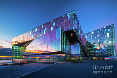 Photograph - Harpa Concert Hall by Inge Johnsson