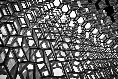 Photograph - Harpa Concert Hall Windows #3 - Iceland by Stuart Litoff
