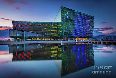 Photograph - Harpa by Inge Johnsson