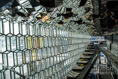 Digital Art - Harpa Musical Hall, Reykjavik, Iceland, by Maggie Magee Molino