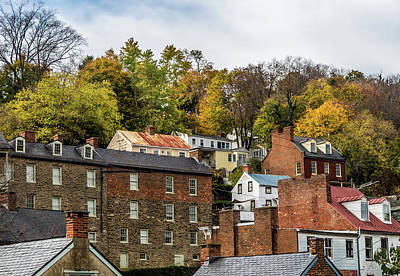 Art Print featuring the photograph Harpers Ferry In Autumn by Ed Clark