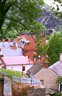 Print featuring the painting Harpers Ferry Overlook by Larry Darnell