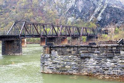 Photograph - Harpers Ferry Railroad Bridge by Carol Groenen