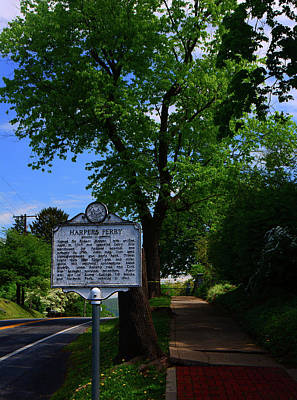 Photograph - Harpers Ferry Town Sign by Raymond Salani III