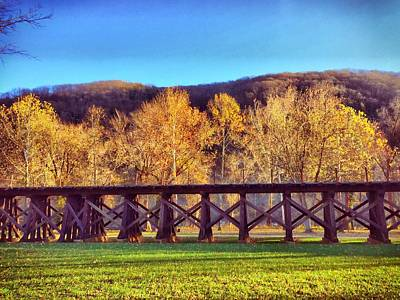 Photograph - Harpers Ferry Train Tracks by Chris Montcalmo
