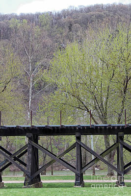 Photograph - Harpers Ferry Train Tracks by Karen Adams