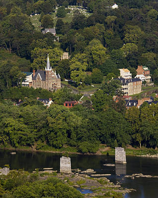 Harpers Ferry Photograph - Harpers Ferry West Virginia On The Banks Of The Shenandoah And Potomac Rivers by Brendan Reals