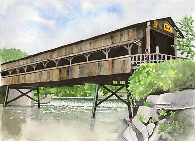 Harpersfield Bridge Art Print
