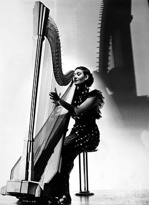 Photograph - Harpist, 1935 by Granger