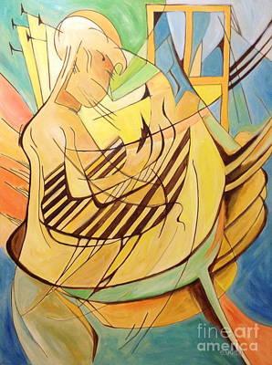 Painting - Harpist by Sandra Yuen MacKay