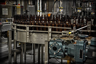 Photograph - Harpoon Bottling Line by Mike Martin