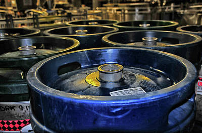 Photograph - Harpoon Brewery Kegs by Mike Martin