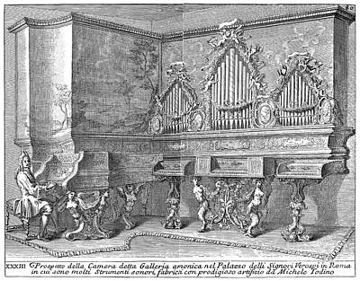 Harpsichord & Spinets, 1723 Art Print