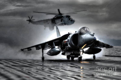 Harrier And Sea King Art Print