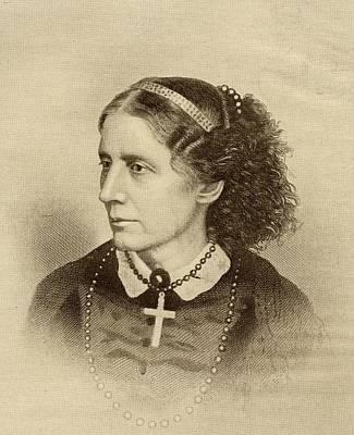 Reformer Drawing - Harriet Beecher Stowe, 1811-1896 by Vintage Design Pics