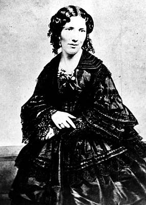 Period Clothing Photograph - Harriet Beecher Stowe, Ca.1800s by Everett