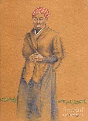 Harriet, Hero -- Portrait Of Harriet Tubman Art Print by Jayne Somogy