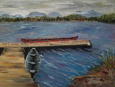 Painting - Harriet Hunt Lake, Ketchikan, Alaska by Judith Rhue