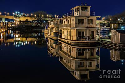 Harriet Island Houseboats Original by Chellie Bock